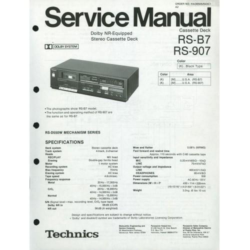Technics RS-B7/907 Cassette Deck Service Manual