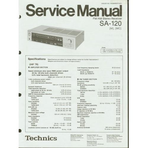 Technics SA-120 Receiver Service Manual
