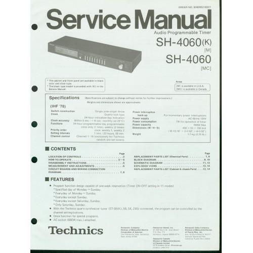 Technics SH-4060 Timer Service Manual