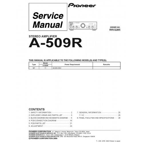 Pioneer A-509R Amplifier Service Manual