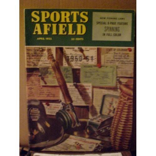 VINTAGE MAGAZINE:  SPORTS AFIELD - APRIL 1952 .... COVER ART BY BEN LARSEN ....