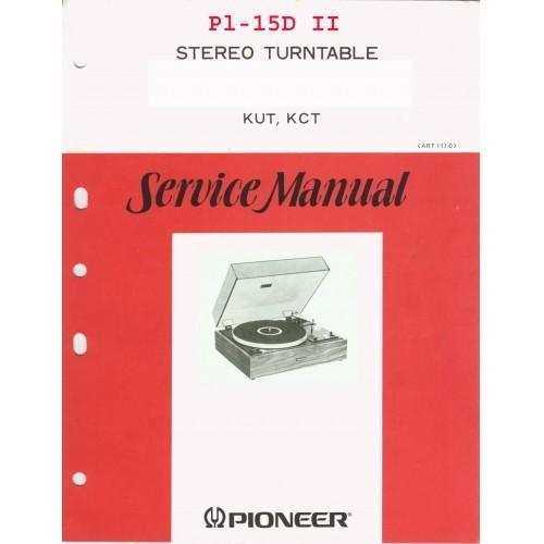 Pioneer PL-15D-II Turntable Service Manual