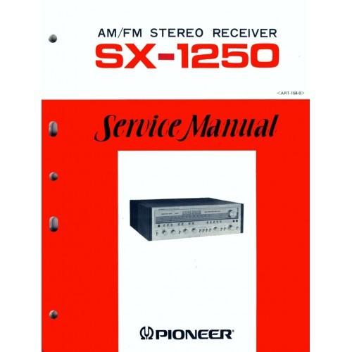 Pioneer SX-1250 Receiver Service Manual