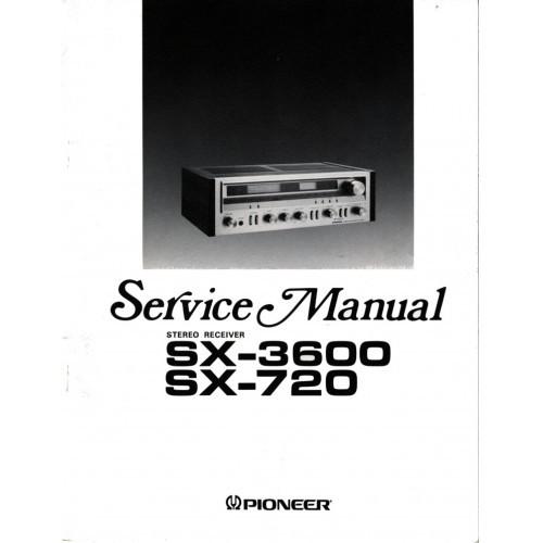 Pioneer SX-3600/720 Receiver Service Manual
