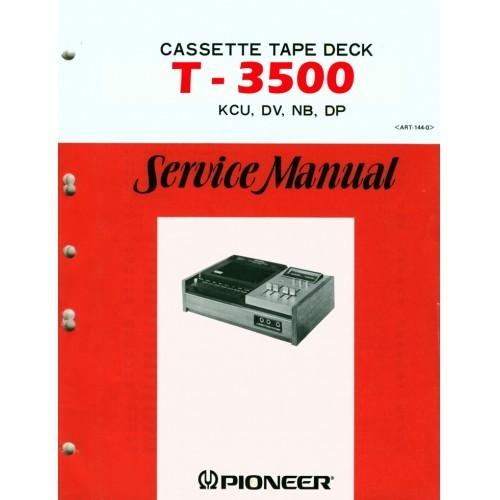Pioneer T-3500 Cassette Deck Service Manual