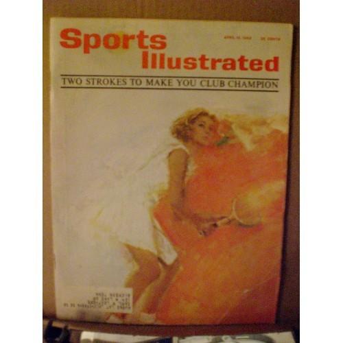 VINTAGE MAGAZINE:  SPORTS ILLUSTRATED - APRIL 15, 1963 .... VG ....