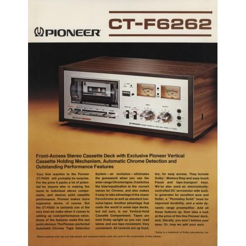 Pioneer CT-F6262 Cassette Deck  Sales Brochure