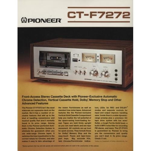 Pioneer CT-F7272 Cassette Deck  Sales Brochure
