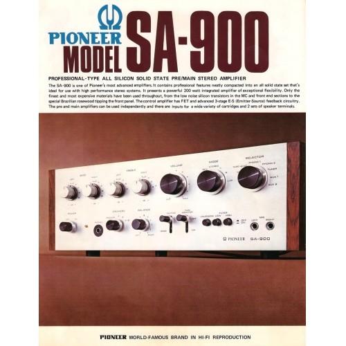 Pioneer  SA-900 Amplifier Sales Brochure