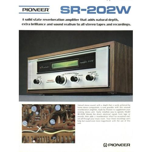 Pioneer  SR-202W Reverb Amp Sales Brochure