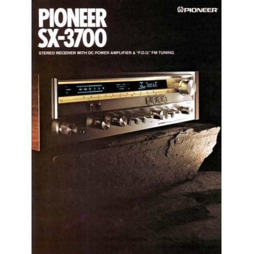 Pioneer  SX-3700 Receiver Sales Brochure