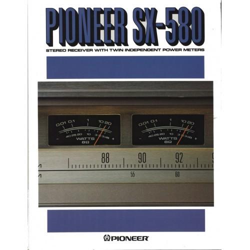 Pioneer  SX-580 Receiver Sales Brochure