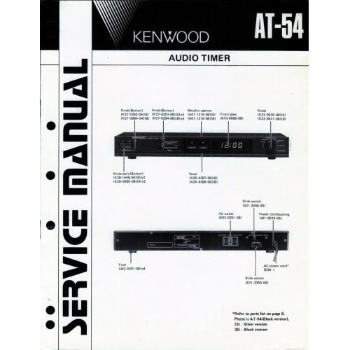 Kenwood AT-54 Timer Service Manual
