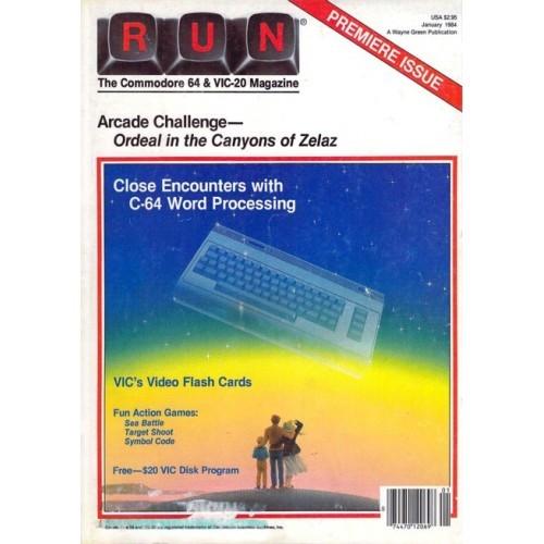 Run Commodore Magazine Jan 1984 Premiere Issue
