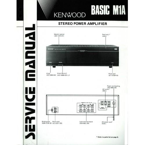 Kenwood Basic M1A Amplifier Service Manual