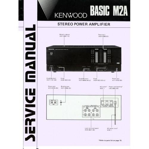 Kenwood Basic M2A Amplifier Service Manual