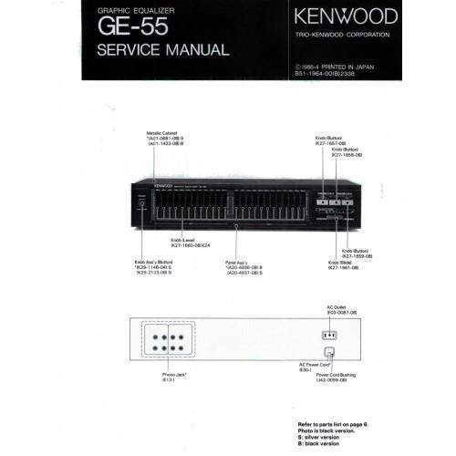 Kenwood GE-55 Equalizer Service Manual