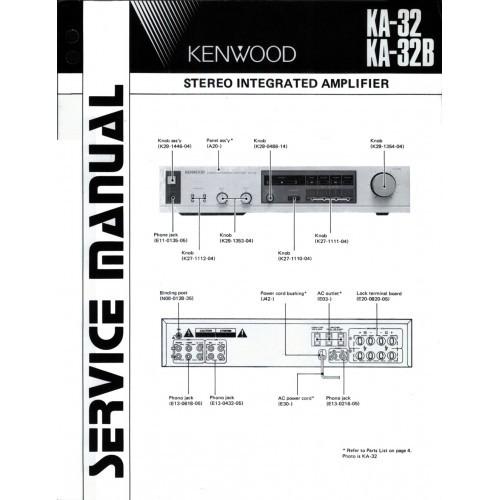 Kenwood KA-32/32B Amplifier Service Manual