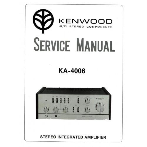 Kenwood KA-4006 Amplifier Service Manual