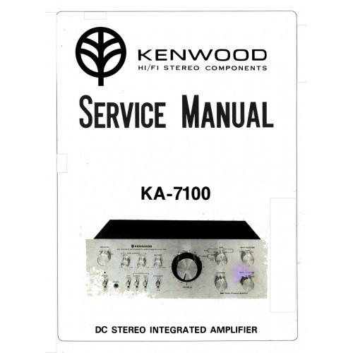 Kenwood KA-7100 Amplifier Service Manual