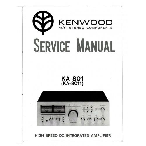 Kenwood KA-801/8011 Amplifier Service Manual