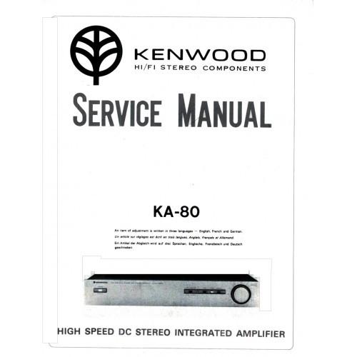 Kenwood KA-80 Amplifier Service Manual