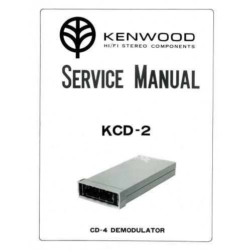 Kenwood KCD-2 Demodulator Service Manual