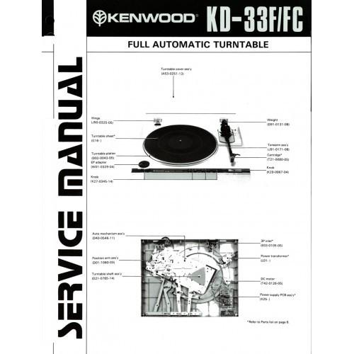 Kenwood KD-33F/FC  Turntable Service Manual