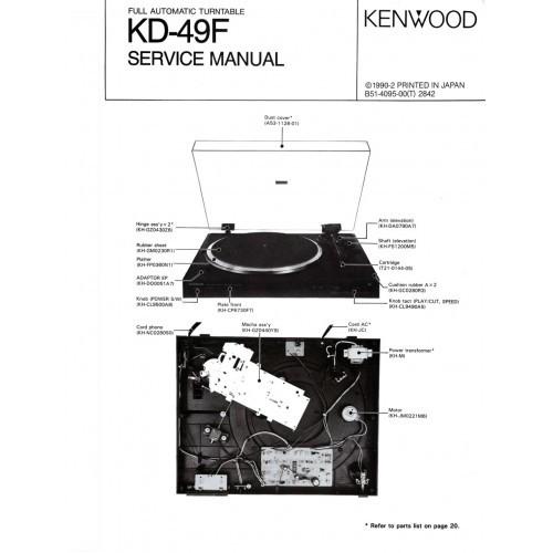 Kenwood KD-49F  Turntable Service Manual
