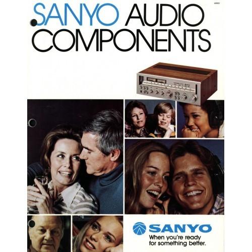 Sanyo Audio Components Sales Brochure (C)