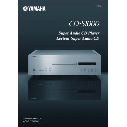 Yamaha CD-S1000 CD Player Owners Manual