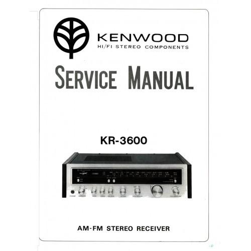 Kenwood KR-3600 Receiver Service Manual