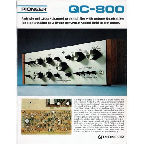 Pioneer  QC-800 Amplifier Sales Brochure