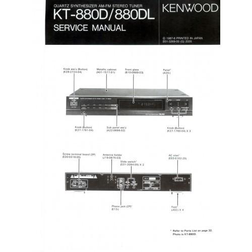 Kenwood KT-880D/L Tuner Service Manual