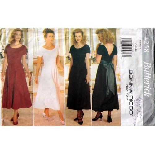 1995 DRESS Pattern 4258-b Size 6-8-10