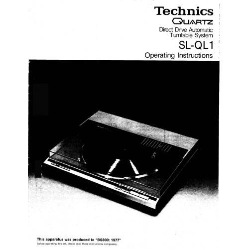 Technics SL-QL1 Turntable Owners Manual