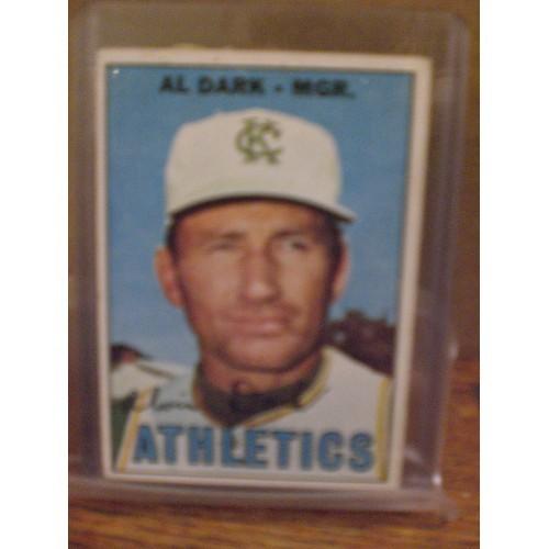 BASEBALL CARD: 1967 TOPPS 389 / AL DARK / VG/EX