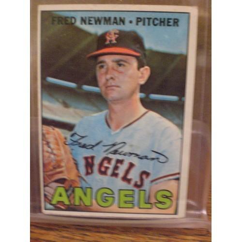 BASEBALL CARD: 1967 TOPPS 451 / FRED NEWMAN / VG/EX