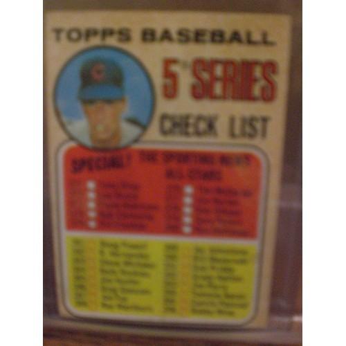BASEBALL CARD: 1968 TOPPS 356 / CHECK LIST 371-457 / VG/EX