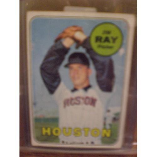 BASEBALL CARD LOT 5: 1969 TOPPS 3 HOUSTON TEAM MEMBER CARDS 257-562 & 656