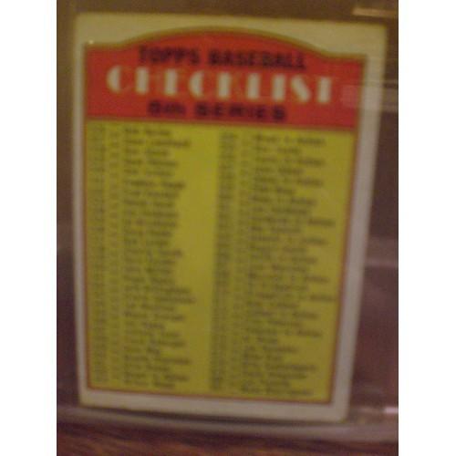 BASEBALL CARD: 1972 TOPPS 478 / CHECKLIST 526-656 / VG