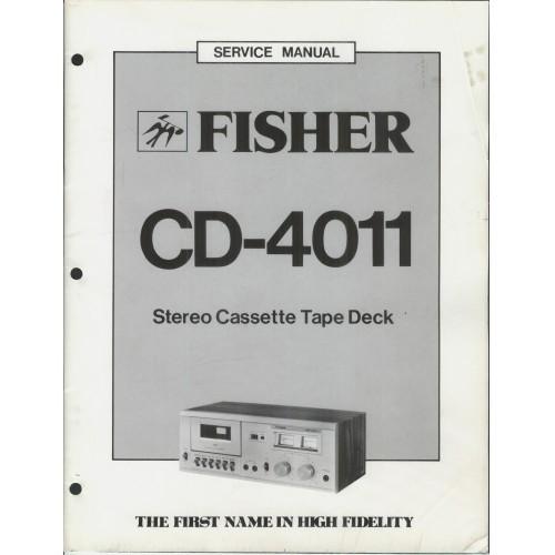 Fisher CD-4011 Cassette Deck Service Manual