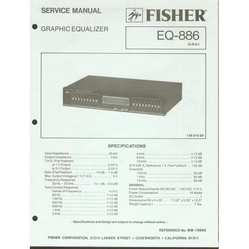 Fisher EQ-886 Equalizer Service Manual