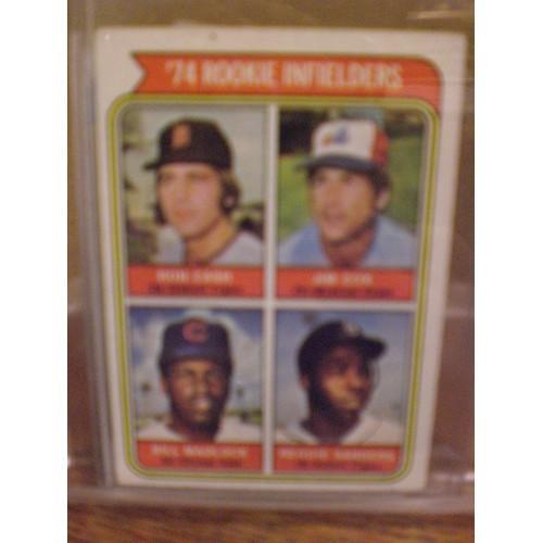 BASEBALL CARD: 1974 TOPPS 600 / 1974 ROOKIE INFIELDERS / EX