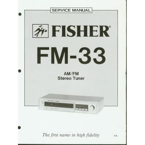 Fisher FM-33 Tuner Service Manual