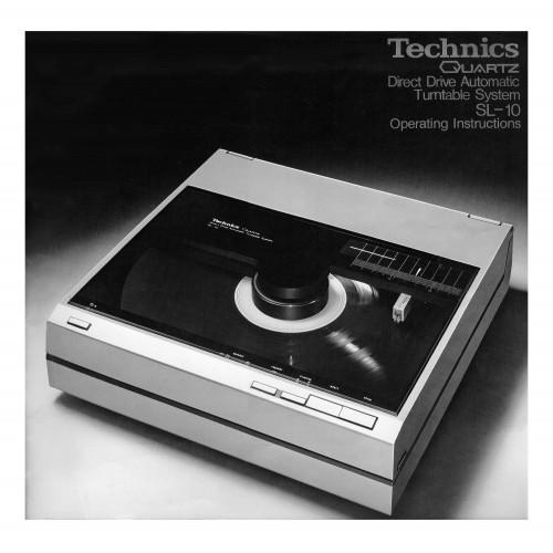 Technics SL-10 Turntable Owners Manual