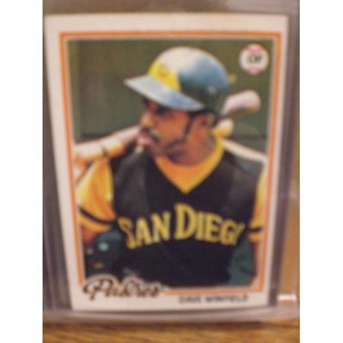 DBASEBALL CARD: 1978 TOPPS  530 / DAVE WINFIELD / EX