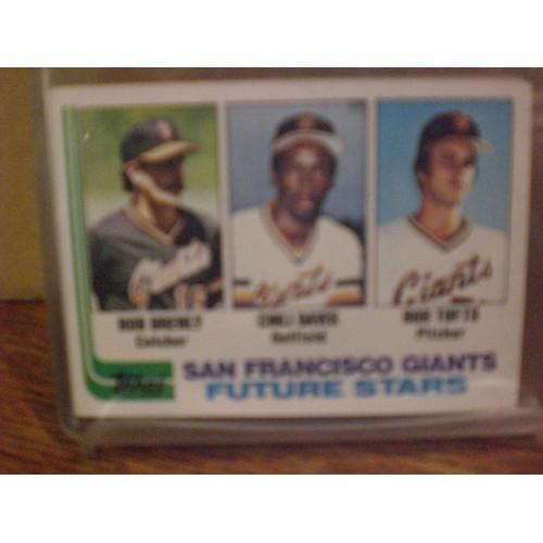 BASEBALL CARD: 1982 TOPPS 171 / BOB BRENLEY - CHILI DAVIS & BOB TUFFS RC / EX