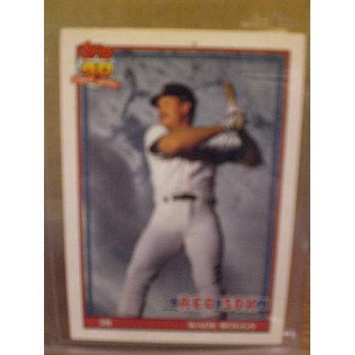 BASEBALL CARD: 1991 TOPPS TIFFANY 450 / WADE BOGGS / NM