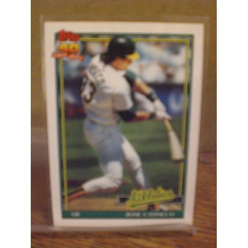 BASEBALL CARD: 1991 TOPPS TIFFANY 700 / JOSE CANSECO / NM